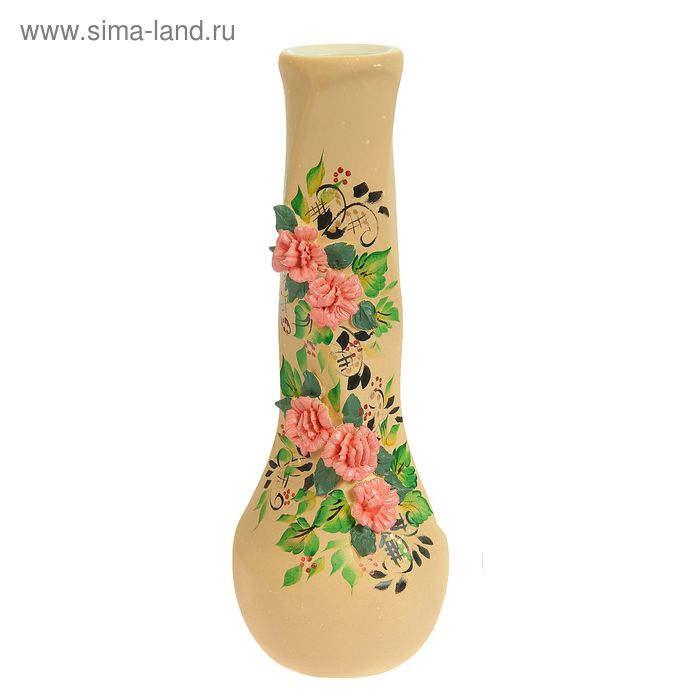 "Ваза ""Самбука"" большая, цветы, лепка"