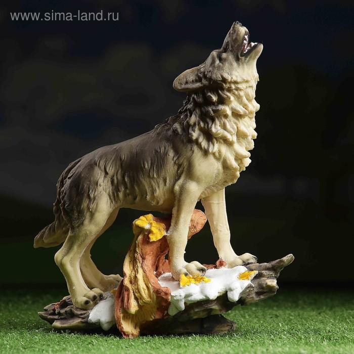 """Садовая фигура """"Воющий волк"""" малая"""