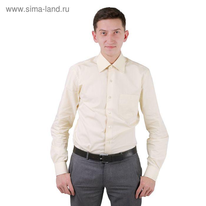 Сорочка мужская BIG BEN К-34 0404-S, размер 39-170-176, цвет шампань