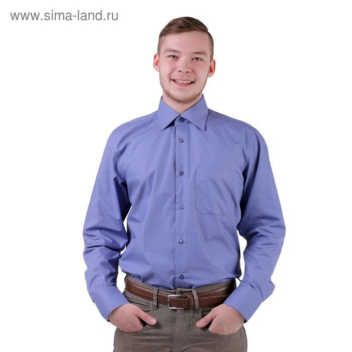 Сорочка мужская BIG BEN К-30 1107-S, размер 38-176-182, цвет синий