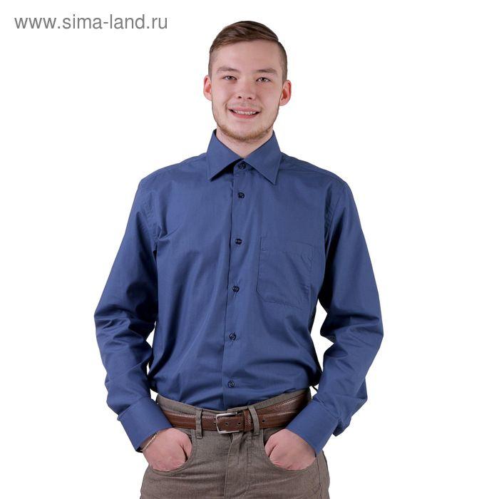 Сорочка мужская BIG BEN К-33 1108-S, размер 38-176-182, цвет темно-синий