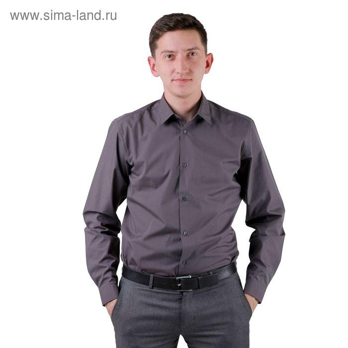 Сорочка мужская BIG BEN К-32 108-S, размер 38-176-182, цвет смог