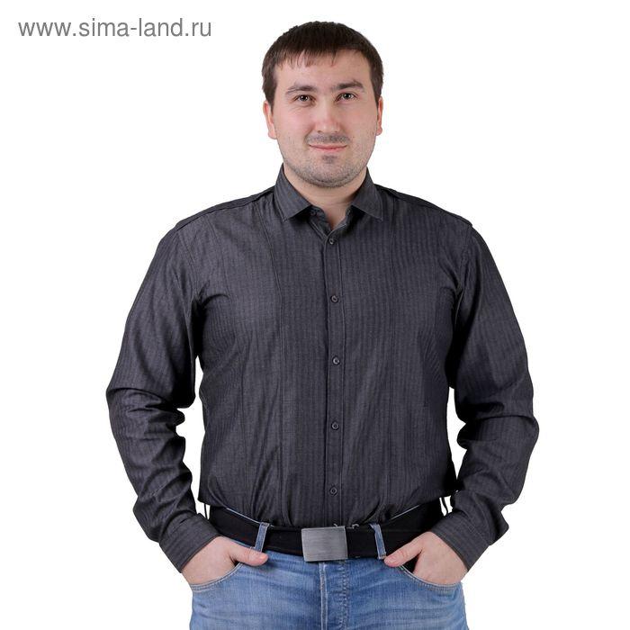 Сорочка мужская BIG BEN К-32 104-S, размер 39-170-176, цвет серый