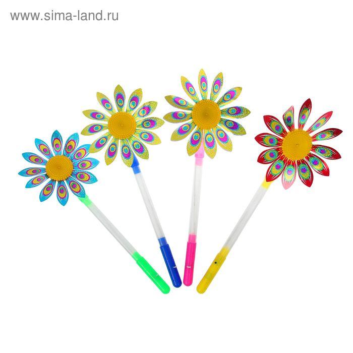 "Световая палочка ""Цветок с ветерком"", цвета МИКС"