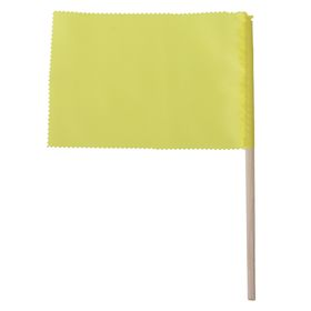 Флажок, длина 20 см, 10х15, цвет жёлтый