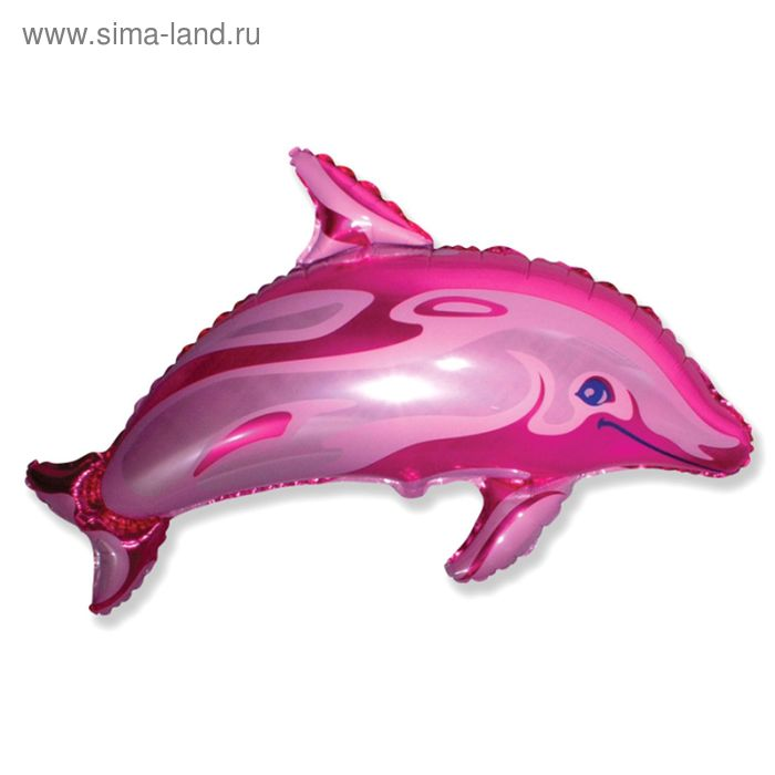 """Шар фольгированный 30"""" """"Дельфин"""", цвет розовый"""