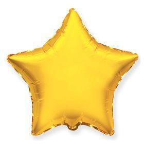 """Шар фольгированный 32"""" """"Звезда"""" без рисунка, металл, цвет золотой"""