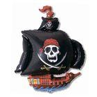 """Шар фольгированный 30"""" """"Корабль пиратский"""", цвет чёрный"""