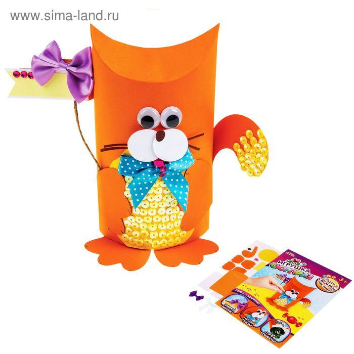 """Игрушка-сюрприз из бумаги своими руками """"Котик"""" + декор"""