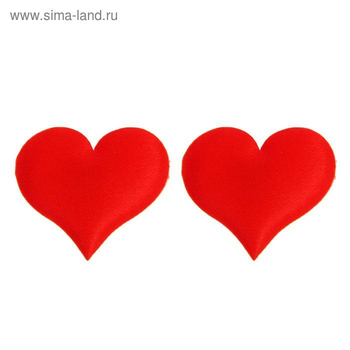 """Сердечки-наклейки """"Однотонные"""", набор 20 шт., цвет красный"""