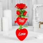 """Декор-украшение для букетов """"Сердечки с цветочками"""""""
