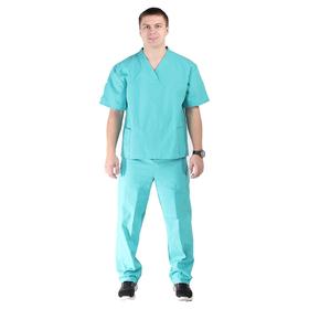 Костюм хирурга, размер 52-54, рост 170-176 см, цвет изумрудный Ош