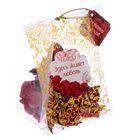 """Аромасаше """"Здесь живет любовь"""" с открыткой, аромат розы, вес лепестков 20 грамм"""