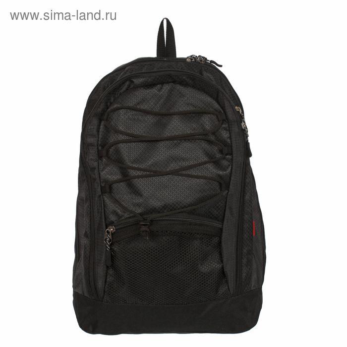 Рюкзак молодежный на молнии, 2 отдела, 1 наружный карман, чёрный