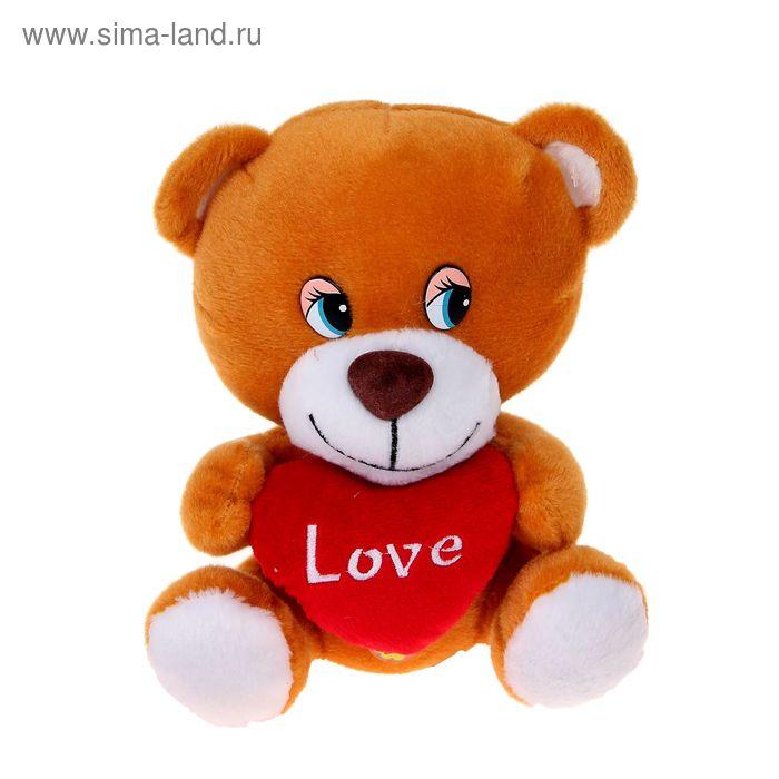 Мягкая музыкальная игрушка «Мишутка с сердцем»