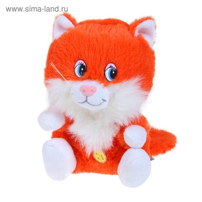 Мягкая музыкальная игрушка «Котёнок Лапушка рыжий»