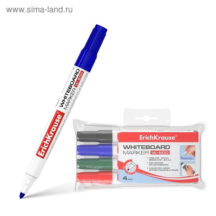 Набор маркеров для доски 4 цвета 2.5 мм Erich Krause W-500 12849