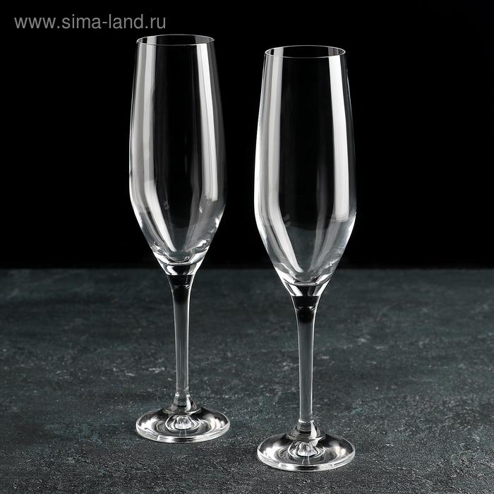 """Набор бокалов для шампанского 200 мл """"Аморосо"""", 2 шт"""