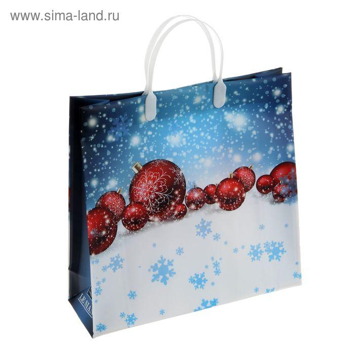 "Пакет ""Снежинки"", мягкий пластик, 30 х 30 см"