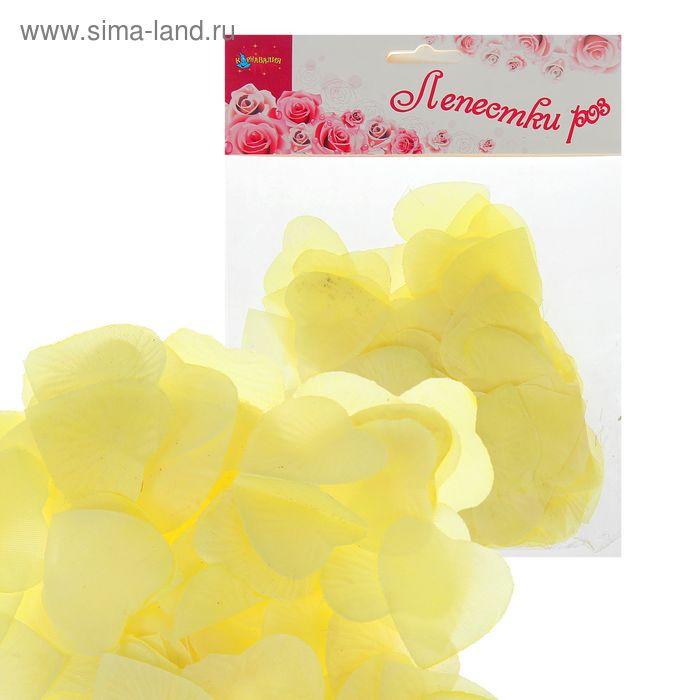 Лепестки в форме сердца, цвет лимонный