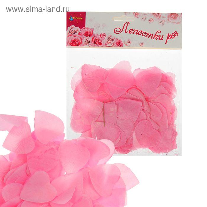 Лепестки в форме сердца, цвет розовый