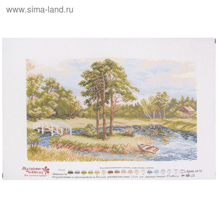 """Рисунок на канве """"Речная заводь"""" 37 х 49 см"""