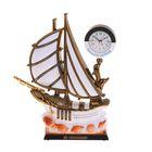 """Часы-светильник с будильником """"Кораблик с белой кормой на ракушках"""""""