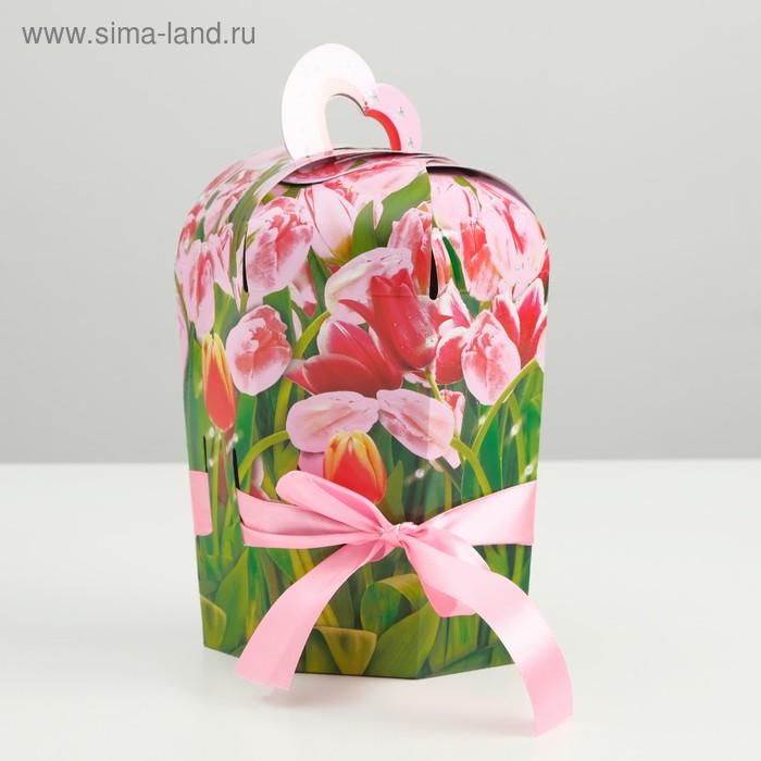 "Подарочная коробка ""Букет любви"", сборная, 23,5 х 8,5 х 10 см"