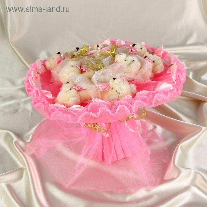"""Букет из игрушек """"Каламбур"""" розовый"""