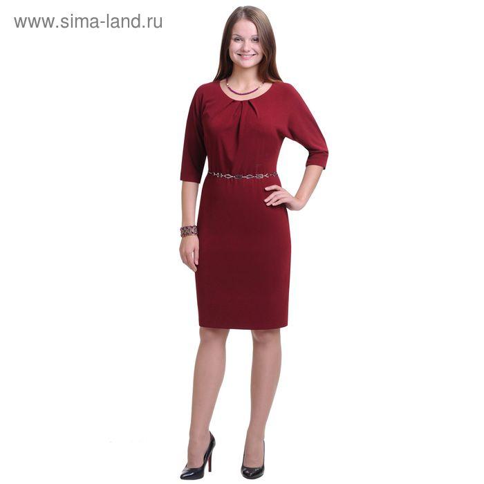 Платье женское 3015, размер 48, рост 164 см, цвет бордо