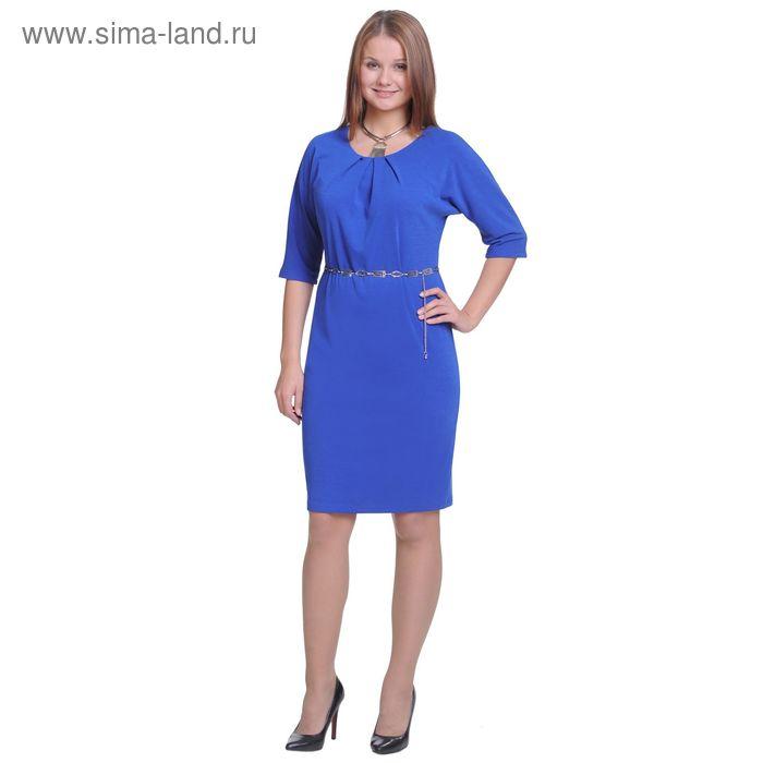 Платье женское 3015д, размер 48, рост 164 см, цвет ярко-синий