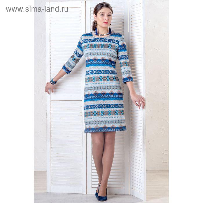 Платье женское, размер 52, рост 164 см, цвет МИКС/принт (арт. 4354 С+)