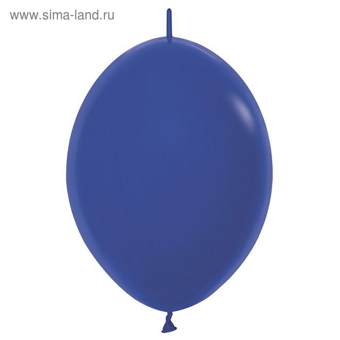 """Шар латексный 12"""", линколун, пастель, набор 100 шт., цвет синий"""