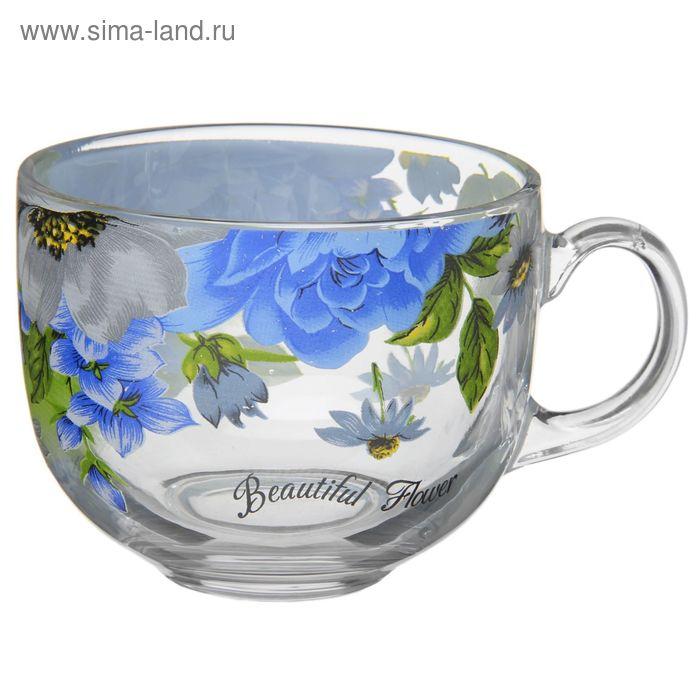 "Кружка 200 мл ""Цветение"", цвет синий"