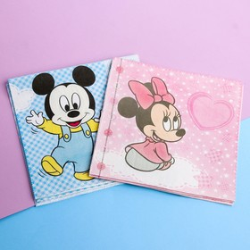 Салфетка бумажная (6 шт) 'Малыши Микки и Минни': Дисней Бэби, 33 х 33 см Ош