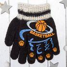 """Перчатки с шерстью детские Collorista """"Баскетбол"""", размер 14 (р-р произв. 14), цвет чёрный"""