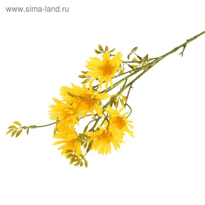 """Цветы искусственные """"Ромашка Пиретрум"""" жёлтая"""