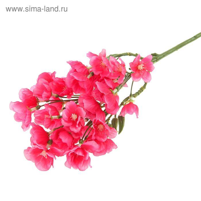 """Цветы искусственные """"Ветка яблони Саржента"""" сиреневый"""