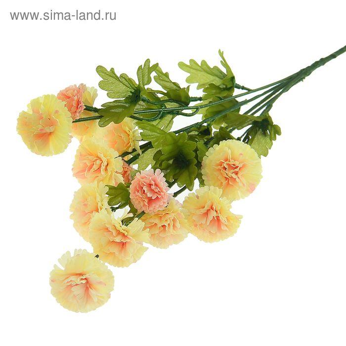 """Цветы искусственные """"Бархатцы кустовые"""" кремовые"""