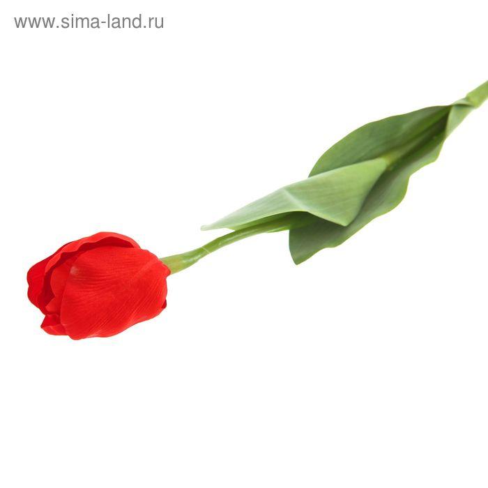 """Цветок искусственный """"Тюльпан Кореопсис"""" красный"""