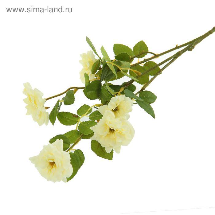 """Цветы искусственные """"Куст шиповника"""" белый"""