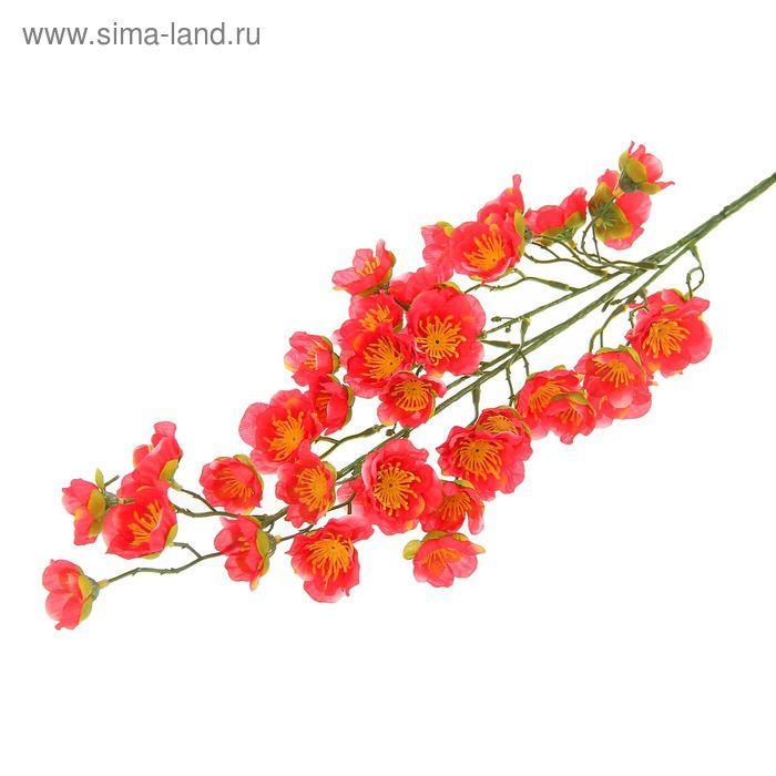 """Цветы искусственные """"Ветка яблони Макамик"""" коралловый"""