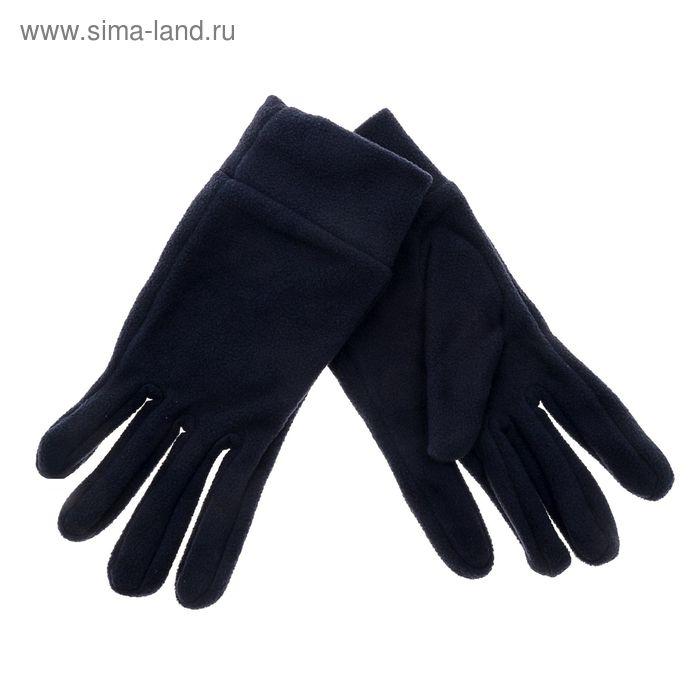"""Перчатки мужские """"Collorista"""" Синие прямые р-р 25 100% п/э, флис"""