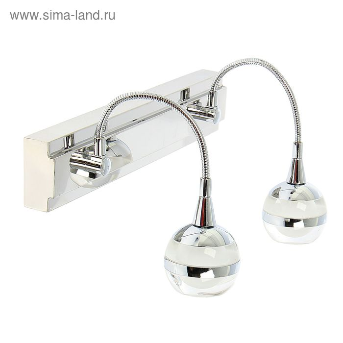 "Спот настенный LED ""Сферия"" 2 плафона (12 ламп)"