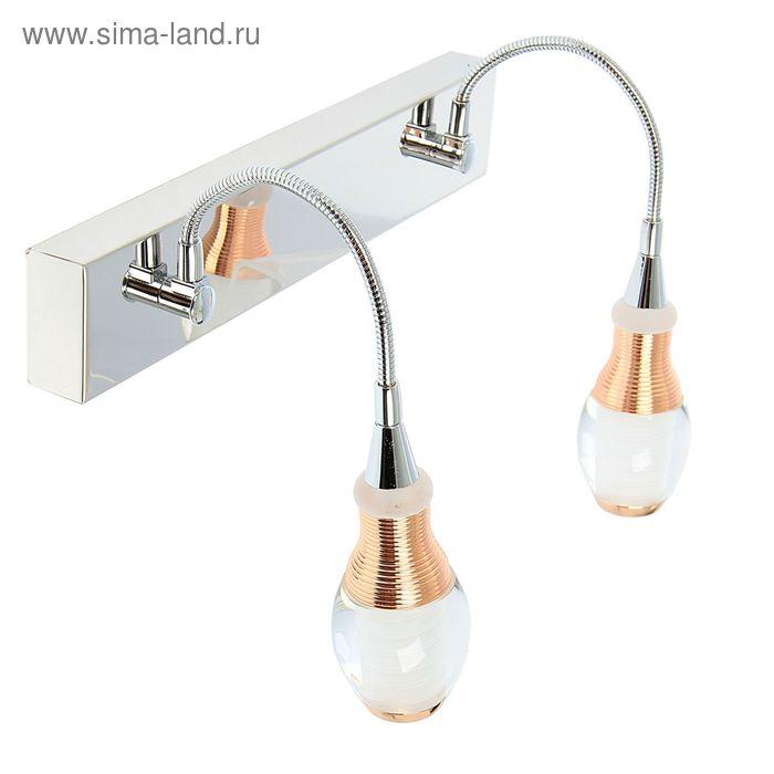 "Спот настенный LED ""Сариус"" 2 плафона (12 ламп)"