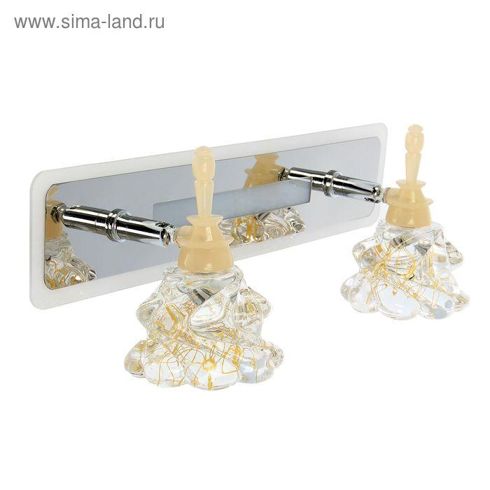 """Спот настенный LED """"Бьянка"""" 2 плафона (12 ламп), планшет (52 лампы)"""