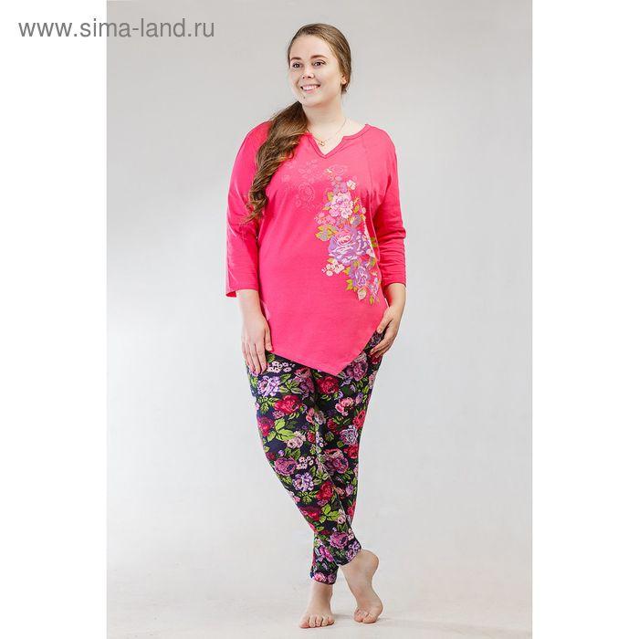 Комплект женский (футболка, бриджи) 8470, р-р 52 кулирка/фуллайкра