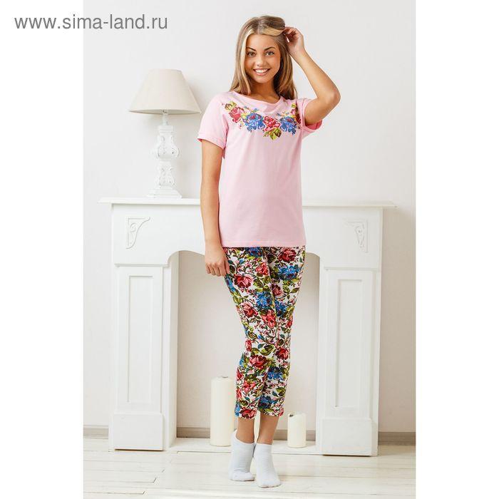 Комплект женский (футболка, бриджи) 8262/01, р-р 52 кулирка/фуллайкра