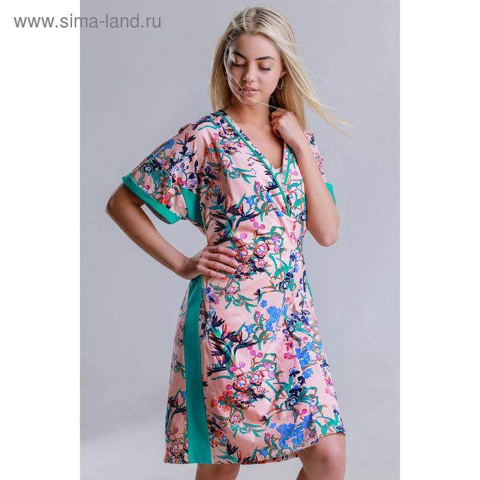 Комплект женский (халат, сорочка) 8451, р-р 44 кулирка
