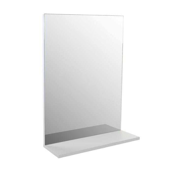 Зеркало с полкой Сима 50 Белый